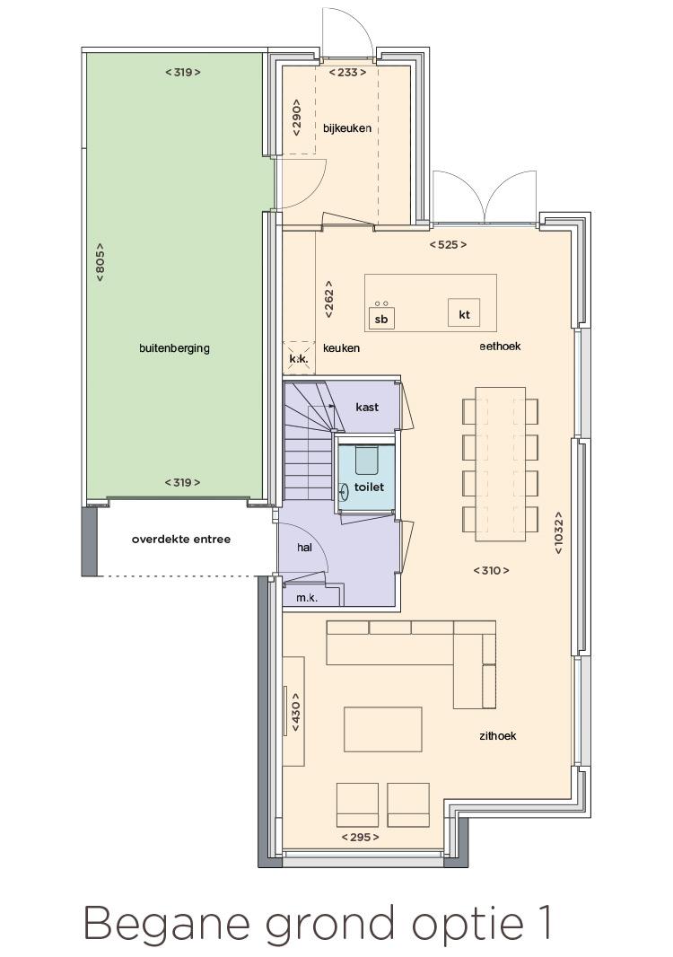Nieuw poelveld te eijsden vrijstaande woningen aan de sleutelbloem - Plan ouderslaapkamer met badkamer en kleedkamer ...